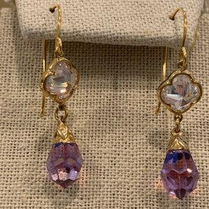 Beautiful purple crystal earrings 🤗💖